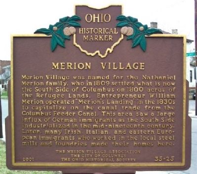 Merion Village Marker (Side A) image. Click for full size.