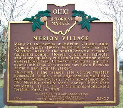 Merion Village Marker (Side B) image. Click for full size.