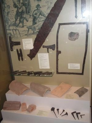 Saw excavated in Historic Jamestowne image. Click for full size.