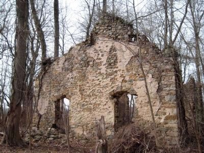 Ruins of Mount Bethel Evangelical Lutheran Church image. Click for full size.