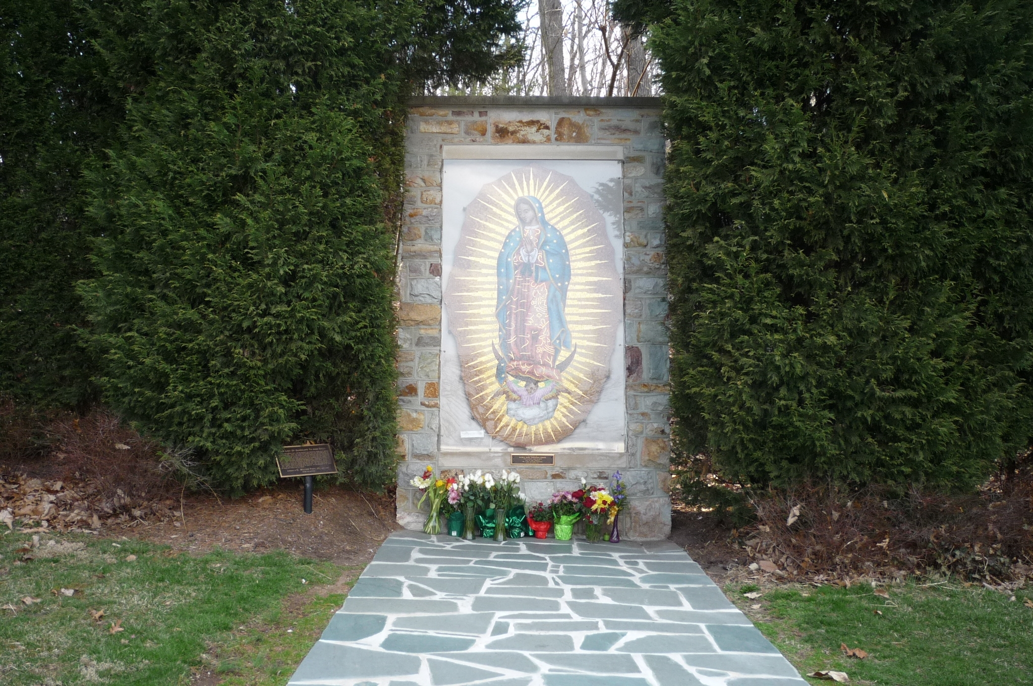 Shrine to Our Lady of Guadalpe, adjacent to the campanile