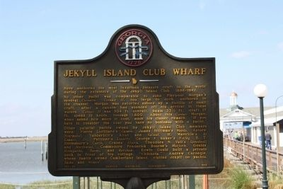 Jekyll Island Club Wharf Marker image. Click for full size.