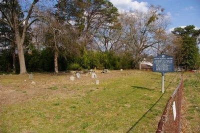 Concord Methodist Cemetery Marker and Cemetery image. Click for full size.
