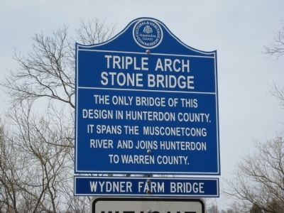 Triple Arch Stone Bridge Marker image. Click for full size.