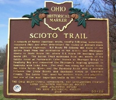 Scioto Trail Marker (Side A) image. Click for full size.