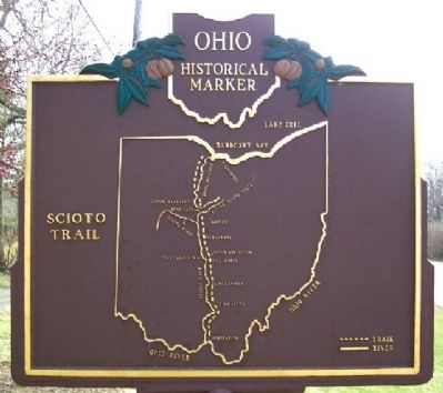 Scioto Trail Marker (Side B) image. Click for full size.