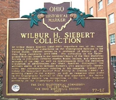 Wilbur H. Siebert Collection Marker image. Click for full size.