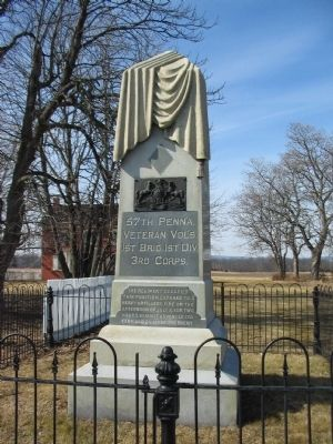 57th Pennsylvania Veteran Volunteers Monument image. Click for full size.