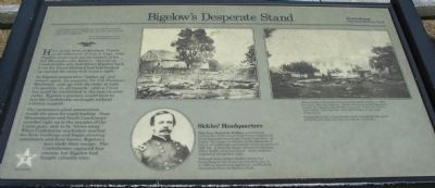 Bigelow's Desperate Stand Marker image. Click for full size.
