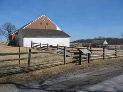 Marker and the Trostle Barn image. Click for full size.