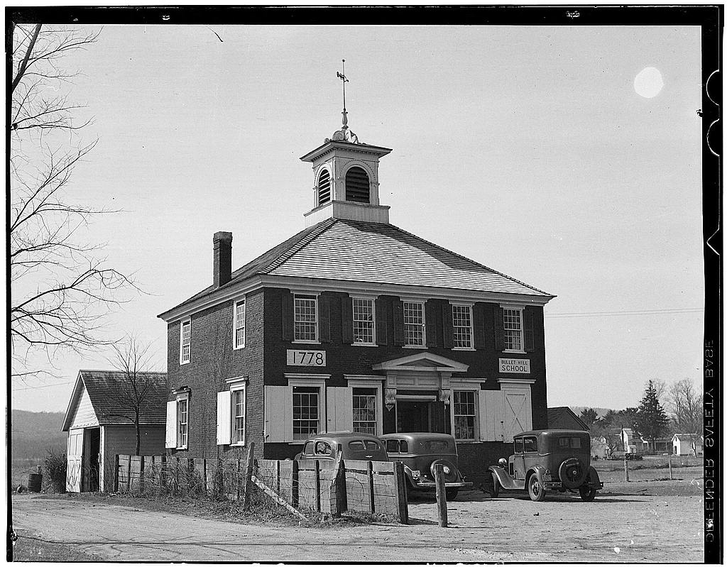 Bullet Hill School (Courtesy of Historic American Building Survey, Library of Congress)