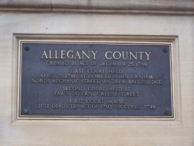 Allegany County Marker image. Click for full size.