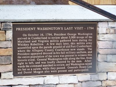President Washington's Last Visit - 1794 Marker image. Click for full size.