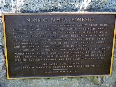 Monroe Family Homestead Marker image. Click for full size.