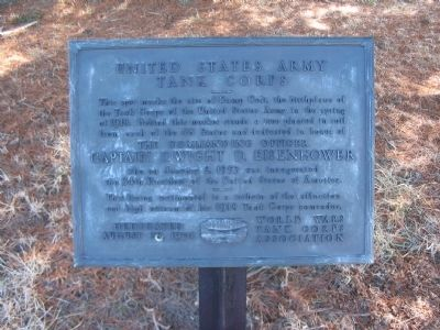 United States Army Tank Corps Marker image. Click for full size.