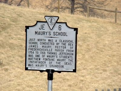 Maury's School Marker image. Click for full size.