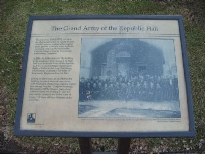 Grand Army of the Republic Hall Marker image. Click for full size.