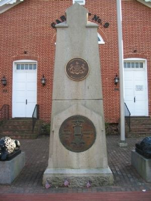 Memorial In Front of Hall image. Click for full size.