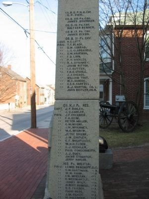 Left Side of Memorial image. Click for full size.