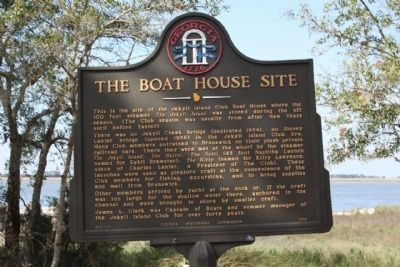 The Boat House Site Marker image. Click for full size.