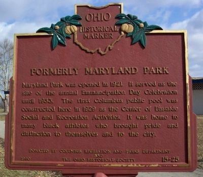Formerly Maryland Park Marker image. Click for full size.