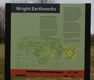 Wright Earthworks Marker image. Click for full size.