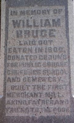William Bruce Grave Marker in Mound Hill Cemetery image. Click for full size.