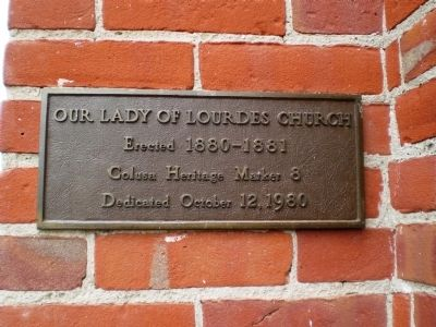 Our Lady of Lourdes Church Marker image. Click for full size.