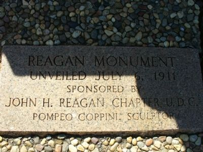 John H. Reagan Monument Marker image. Click for full size.