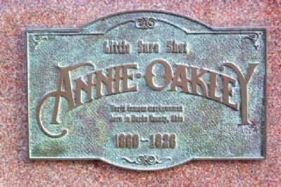 Little Sure Shot<br>Annie Oakley image. Click for full size.