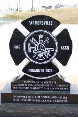 Farmersville Fire Department Memorial image. Click for full size.