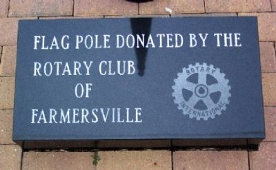 Farmersville Fire Department Flag Pole Marker image. Click for full size.