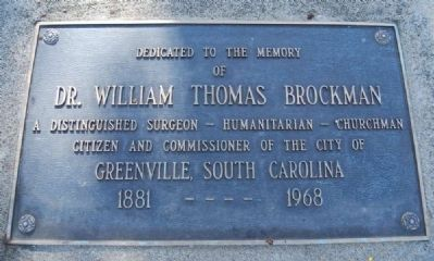 Brockman Park Marker -<br>Upper Plaque image. Click for full size.
