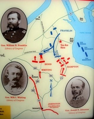 Map of the Eltham's Landing Battlefield image. Click for full size.