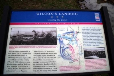 Willcox's Landing CWT Marker image. Click for full size.