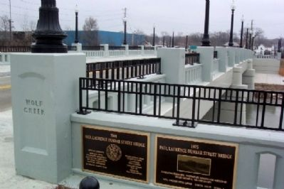 Paul Laurence Dunbar Street Bridge Markers image. Click for full size.