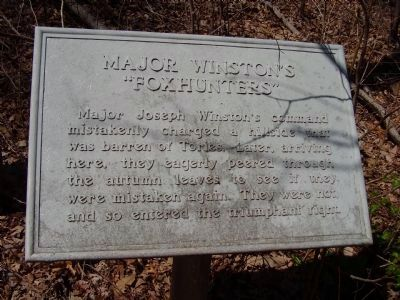 Major Winston's Marker image. Click for full size.