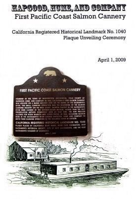 Cover Page of the Dedication Ceremony Program image. Click for full size.