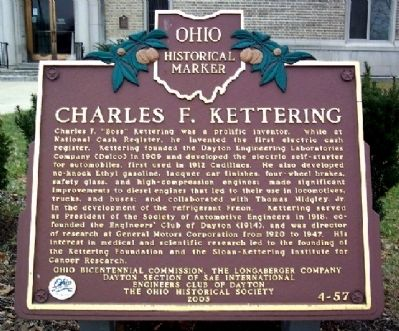 Charles F. Kettering Marker image. Click for full size.