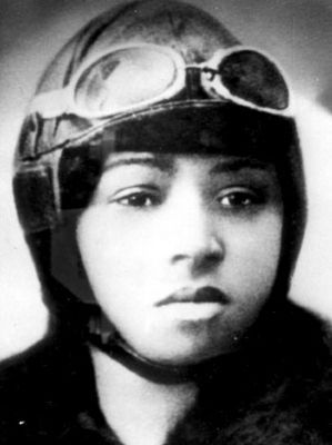 Bessie Coleman image. Click for full size.