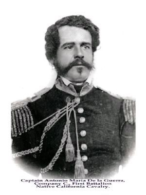Capt. Antonio Maria de la Guerra image. Click for more information.