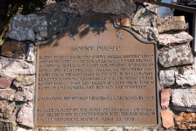 Mount Diablo Marker image. Click for full size.