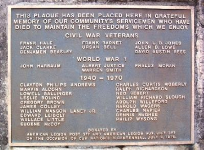 Camden War Memorial Marker image. Click for full size.