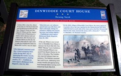 Dinwiddie Court House CWT Marker image. Click for full size.