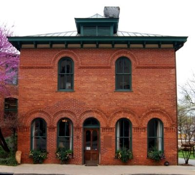 Huguenot Mill Office and Marker (Left of Front Entrance) image. Click for full size.