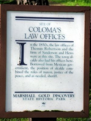 Coloma's Law Offices Marker image. Click for full size.