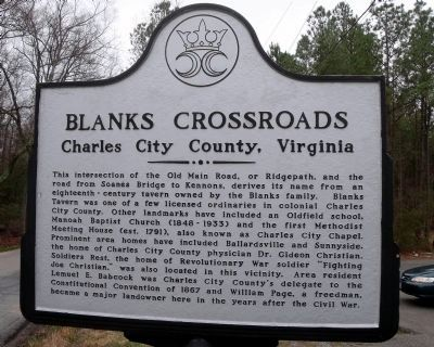 Blanks Crossroads Marker image. Click for full size.
