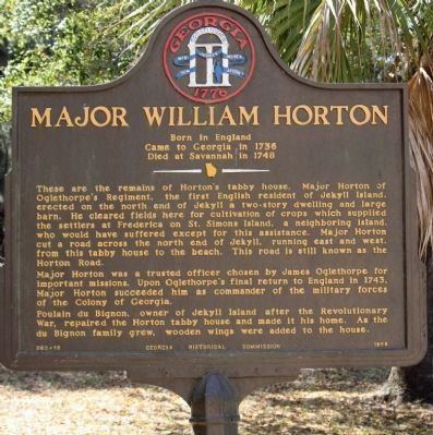 Major William Horton Marker image. Click for full size.