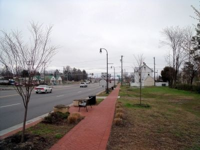 Downtown redevelopment evident in West Point, Va. image. Click for full size.