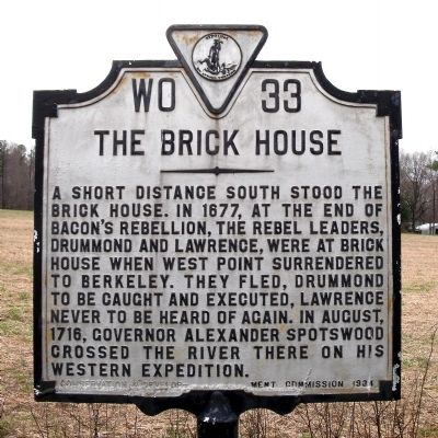 The Brick House Marker image. Click for full size.